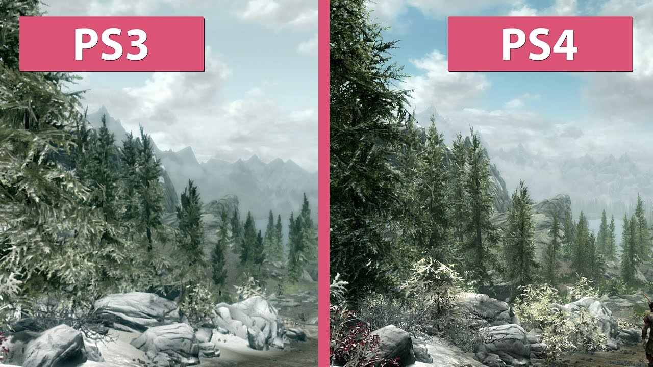 Skyrim – PS3 Original vs. PS4 Special Edition Remaster Graphics Comparison - YouTube