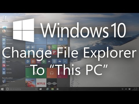 """How To Make File Explorer To Open """"This PC"""""""