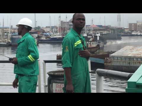 Lagos Nigeria - offshore, video by Croatian maritime officer