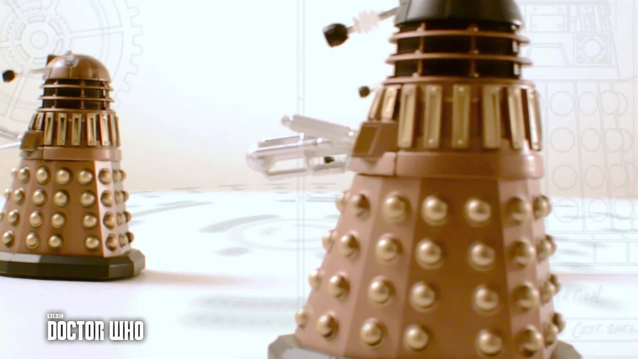 Doctor Who Bronze colour dalek  electronic moving dalek 3.75 inch  figure