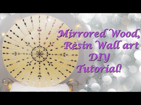 Mirrored Wood, Resin Wall Art!!! DIY!