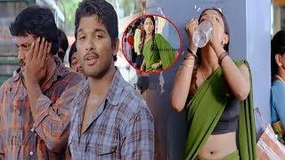 Allu Arjun And Sheela Kaur Bus Stop Scene   Telugu Movie Scenes   Telugu Latest Videos
