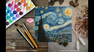 The Starry Night MADE OF CHOCOLATE?!