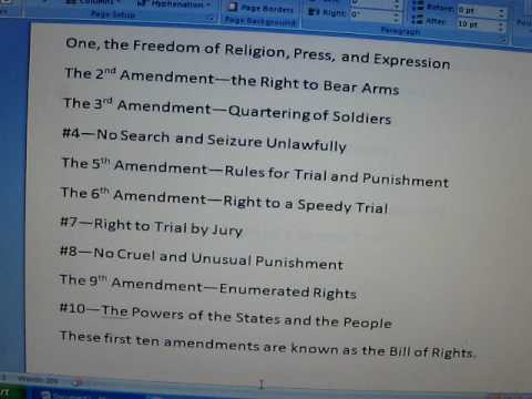 Amendments to the Constitution Song