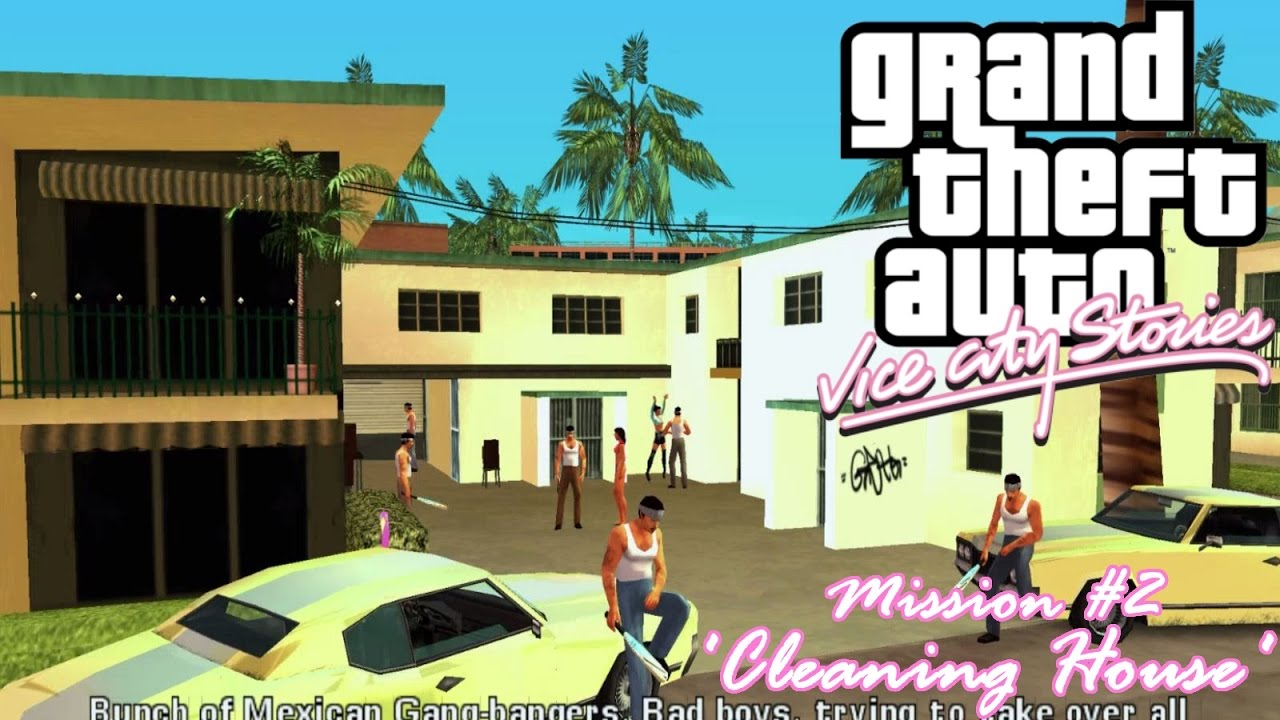 GTA: Vice City Stories (PSP Emu) Mission #2 - Cleaning House