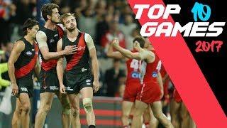 AFL Top 10 Games 2017