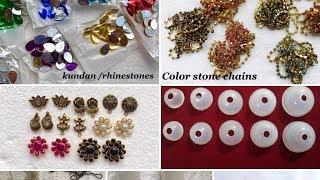 Basic Materials For Silk Thread Jhumka Making||silk thread jhumka materials