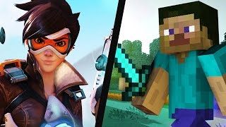 Repeat youtube video Overwatch vs. Minecraft -- Who Copied Who??