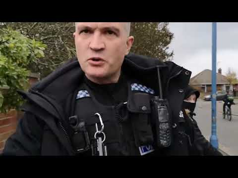 Typical British Police Bullying And Only Believing The Woman (credit to Newsflare for footage)