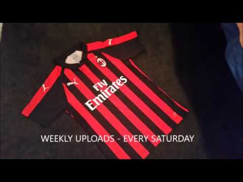 PUMA AC MILAN 2018/19 HOME JERSEY - UNBOXING AND REVIEW