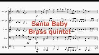 Video Santa baby - Brass quintet download MP3, 3GP, MP4, WEBM, AVI, FLV Agustus 2018