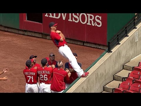 """TRUST FALL! Bullpen inducts Shelby Miller with """"Fall of Trust"""""""