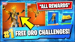 *NEW* ORO SKIN EVENT & FREE REWARDS CHALLENGES *RIGHT NOW* (Fortnite)