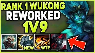 Download RANK 1 WUKONG WORLD 1V9 WITH THE NEW REWORKED WUKONG (LITERAL GOD-MODE) - League of Legends Mp3 and Videos