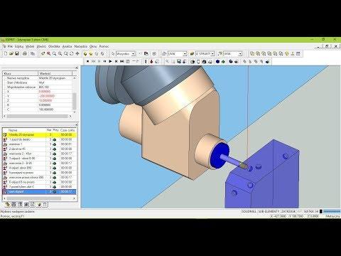 CME  ESPRIT CAM Test programu NC na maszynie