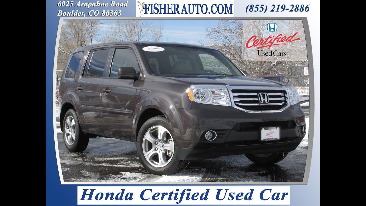 Honda Certified 2013 Honda Pilot EXL Brown $33 900