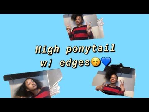 High Side Ponytail W/ Edges🤯💙'