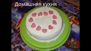 Бисквитный торт в домашних условиях