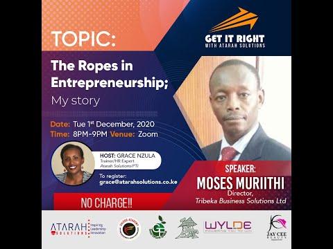 The Ropes in Entrepreneurship; My story