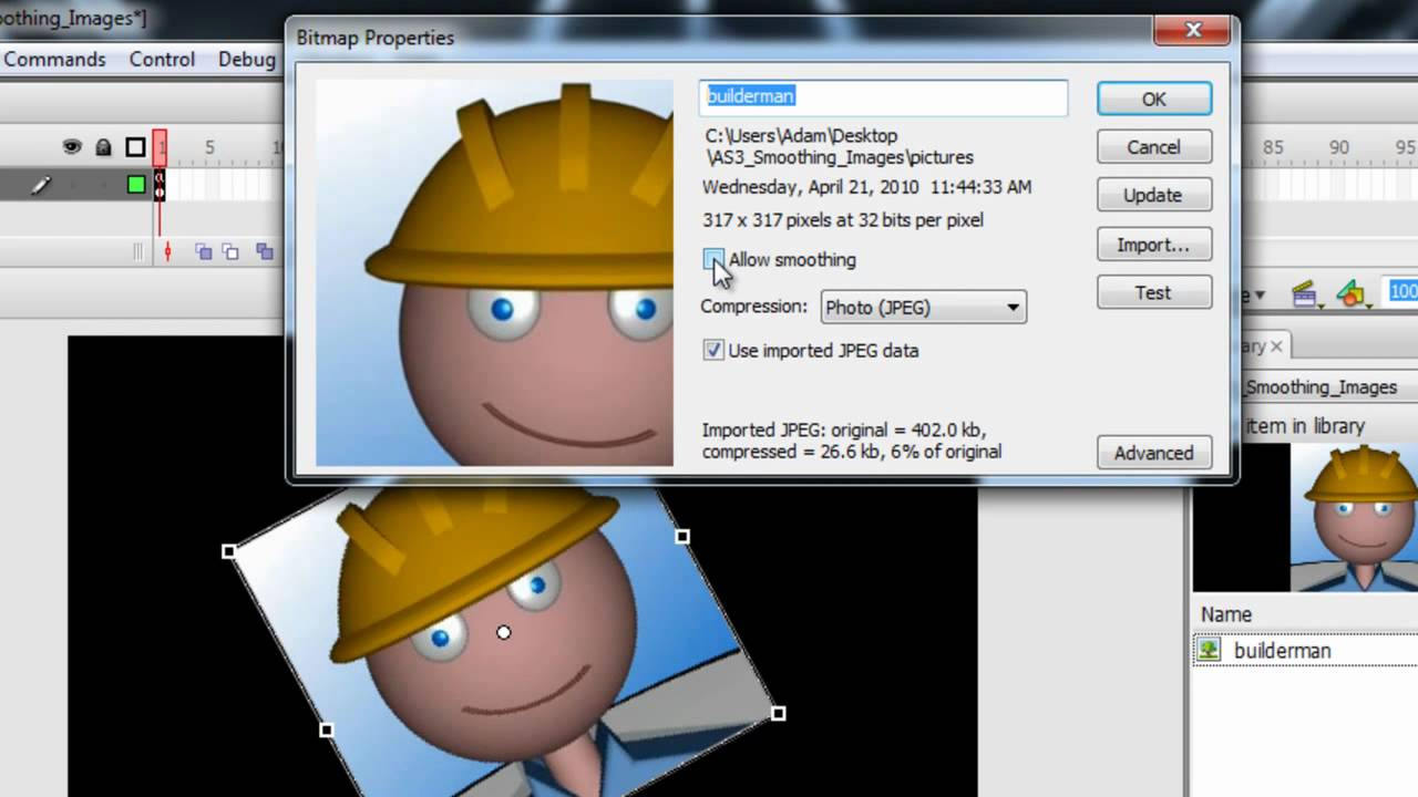 How to Prevent your image from pixelation by smoothing out
