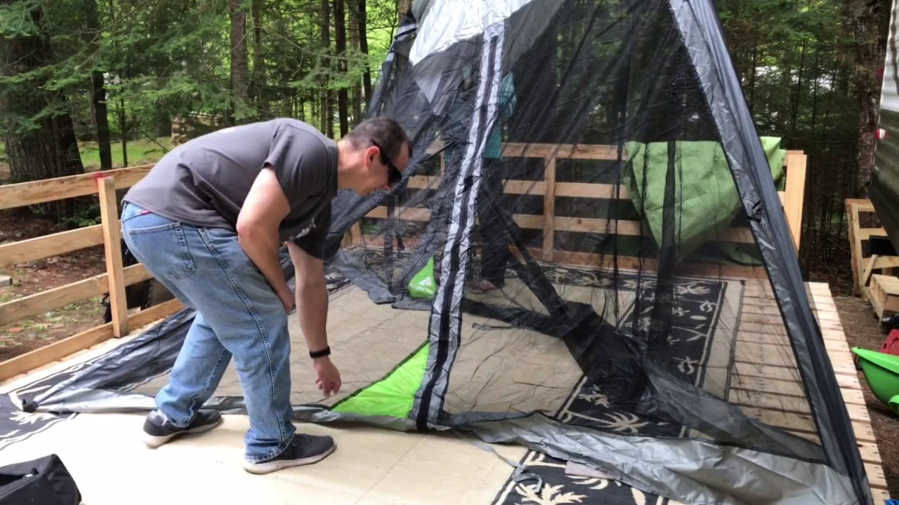 Ozark Trail 10x10 Screen House Product Review Fail Youtube