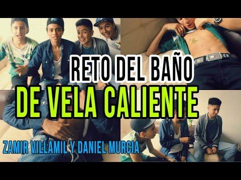 RETO DEL BAÑO DE VELA CALIENTE ft Zamir Villamil y Daniel Murcia