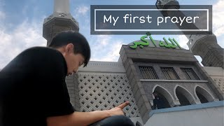 My first prayer in mosque