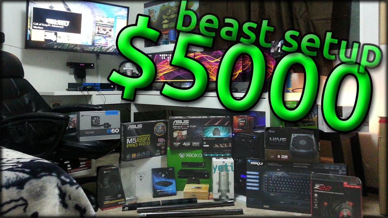 best gaming setup 2015 - frosted gaming - epic - youtube