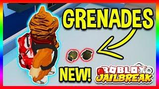 *NEW* GRENADES UPDATE LEAKED! Roblox Jailbreak GRENADES NEW UPDATE INFO!