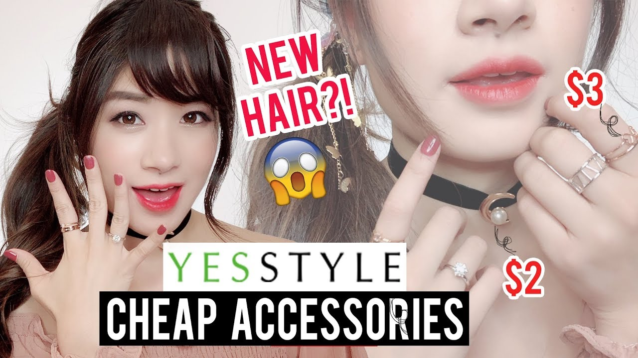 Try on: CHEAP AF Accessories from YESSTYLE! | is it worth it?