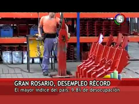 GRAN ROSARIO, DESEMPLEO RECORD