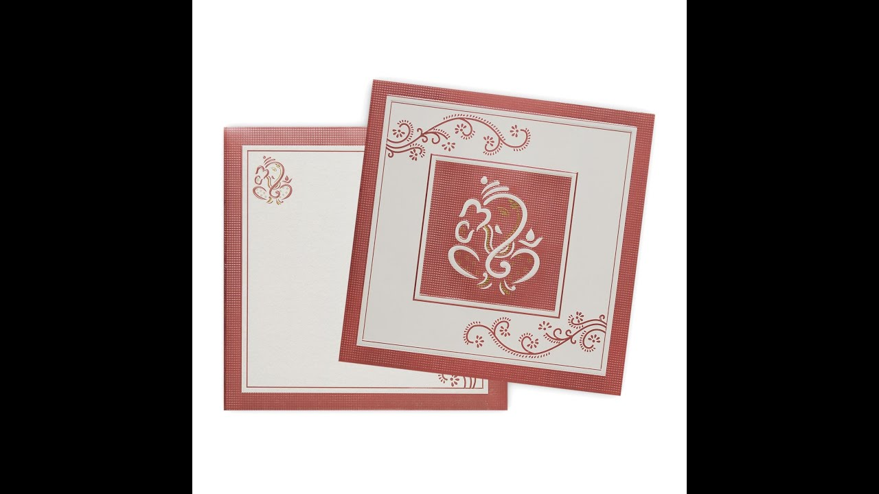 Classy Pink Lord Ganesha Invitation Card-KNK4334 - YouTube