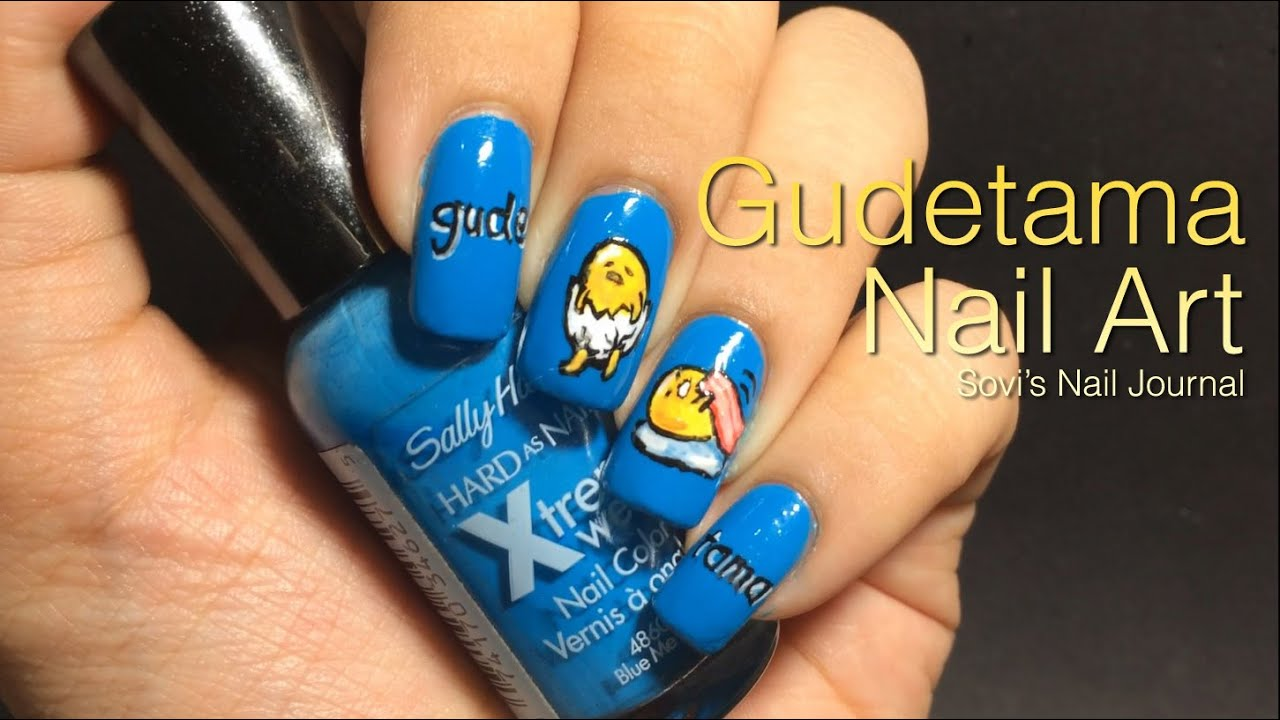 Gudetama Nail Art | Sovi\'s Nail Journal - YouTube