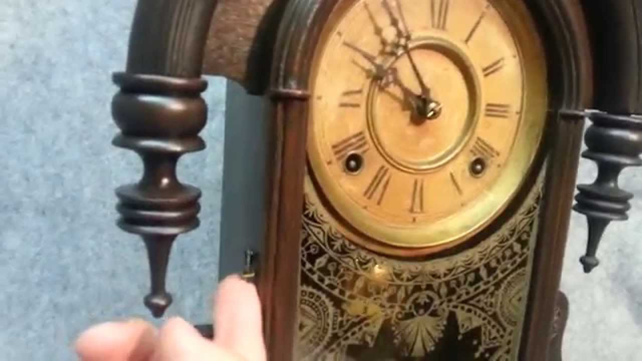 Antique Ansonia Parisian Model Teardrop Parlor Clock ca 1876 YouTube