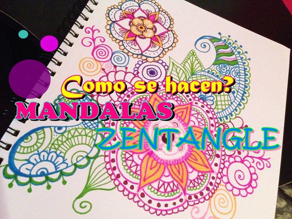 COMO HACER MANDALAS ZENTANGLE ART YouTube