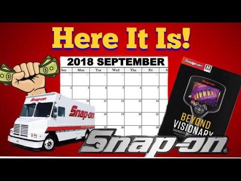 Snap On Tool Flyer: September 2018
