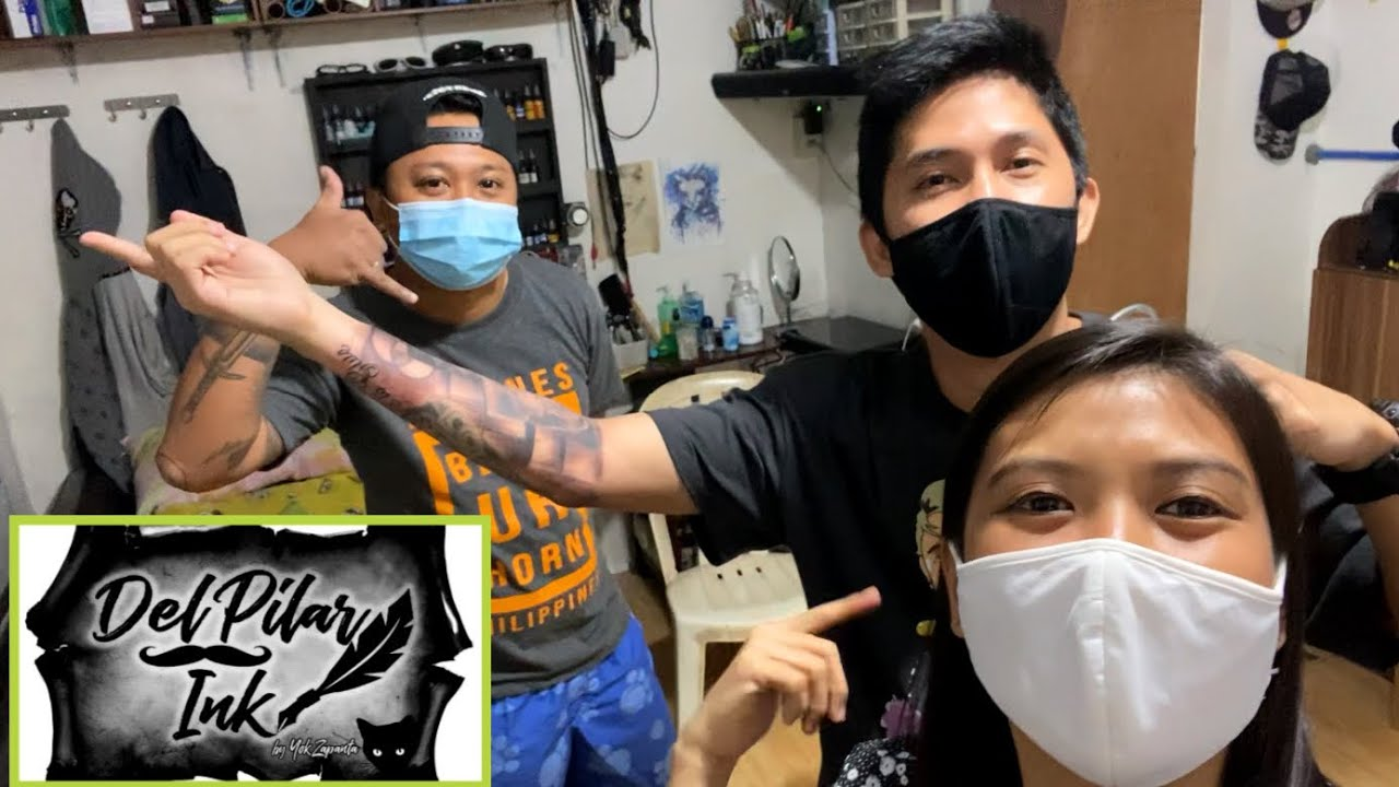 Getting Tattooed At Del Pilar Ink By Yok Zapanta  Kat Borja Vlogs