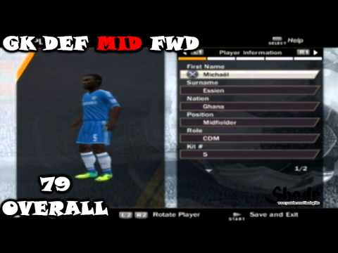 FIFA 14 PS2 Chelsea All Faces & Ratings HD