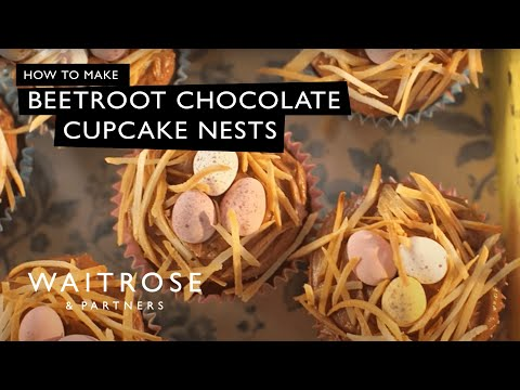Beetroot Chocolate Cupcake Nests | Waitrose