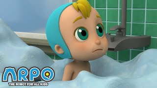 Arpo the Robot | BABY'S BATH TIME!!! | Funny Cartoons for Kids | Arpo and Daniel