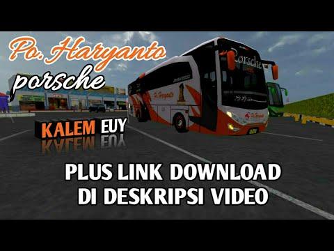 Haryanto Porsche ngeblong | Livery BUSSID HD | Link download di deskripsi