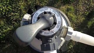 Ako vyčistiť pieskový filter Preplach/Výplach