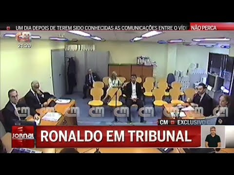 Cristiano ronaldo in court exclusive images CMTV