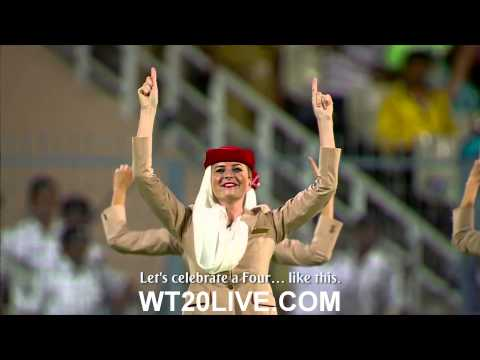 Emirates Air Hostess dance Performance before ICC WT20 2016 Final
