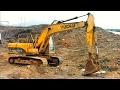 Máy xúc làm việc trong công trường | Excavator | Tientube TV