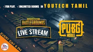 Pubg Mobile 🔴 Live Stream in Tamil | Stream Snipers Vs YouTechTamil | Unlimited Room With Fun Game