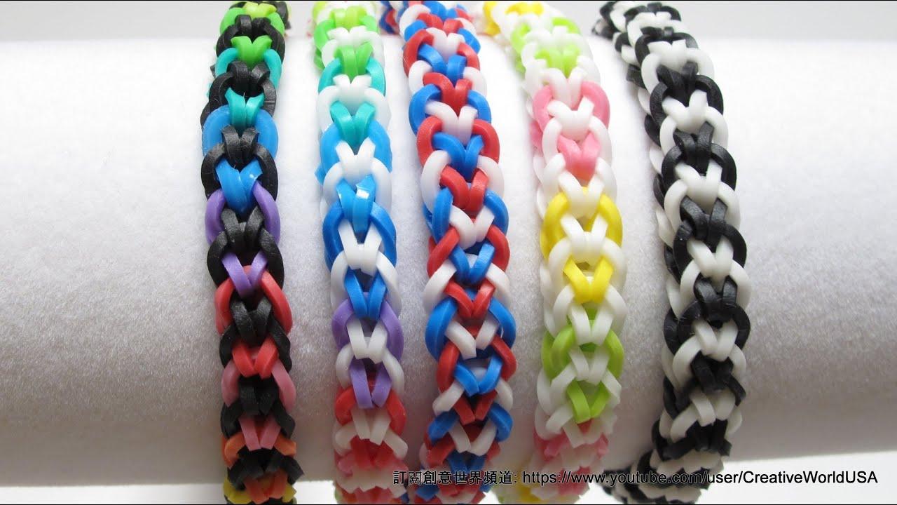 �������� inverted fishtail bracelet ����������������� rainbow loom
