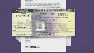 SCAM ALERT: Bogus money orders, cashiers checks being sent through mail