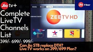 Jio Fiber Live TV Experience| Complete Live TV Channels List| Live TV on 399/699 plan