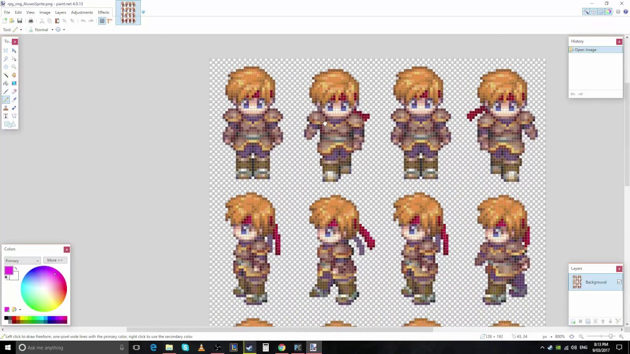 Custom Sprite Creation & RPG Maker XP